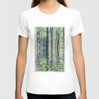 sia T-shirts featuring SERENE GREEN SCENE by Catspaws