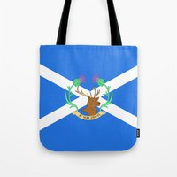 outlander Tote Bags featuring Clan Fraser by CaptainSunshine