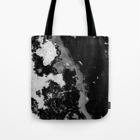 Lost In The Mystery - Abstract, black and white painting Tote Bag
