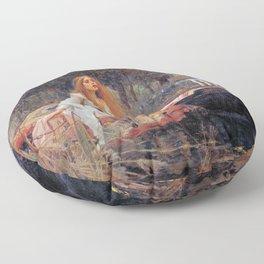 John William Waterhouse The Lady of Shalott Floor Pillow