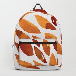 Watercolor floral petals - autumn Backpack