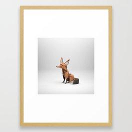 The Paper Fox : Fox Framed Art Print