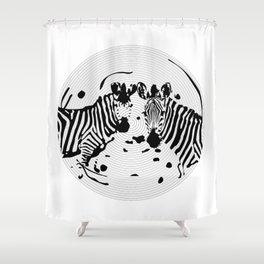 Zebra Record Shower Curtain