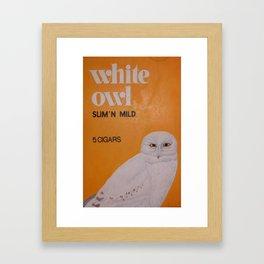 White Owl Cigars Framed Art Print