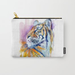 Young Tiger Watercolor Portrait Carry-All Pouch