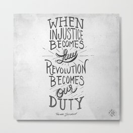 Revolution Becomes Our Duty Metal Print