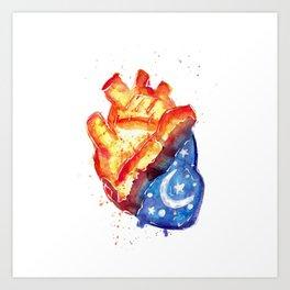 Corazon dia corazon noche Art Print