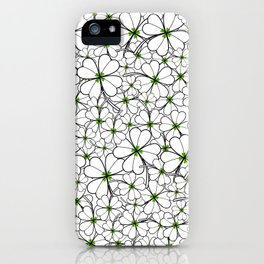 Line art - Clover iPhone Case