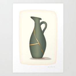 Kintsugi Jug Art Print