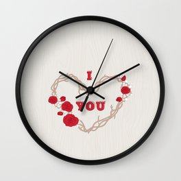 The heart of a wreath Wall Clock
