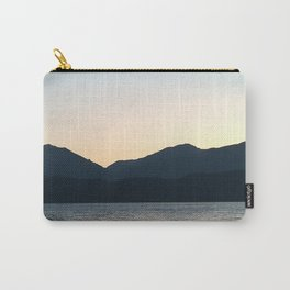 Sunset and Crescent Moon over the Water Carry-All Pouch