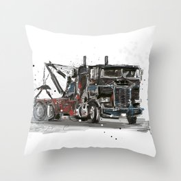 Tow-truck Throw Pillow