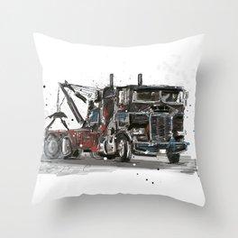 Tow-truck Throw Pillow