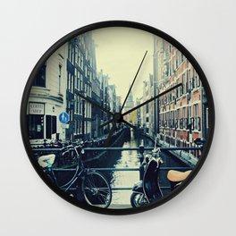 Coffee street- Amsterdam Wall Clock
