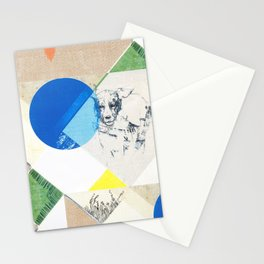 abstract dog sketch Stationery Cards