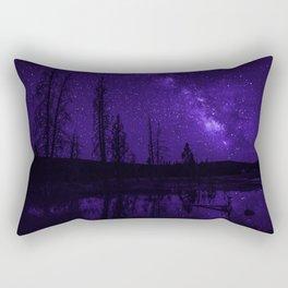 Milky Way Over Fire Hole Lake Rectangular Pillow