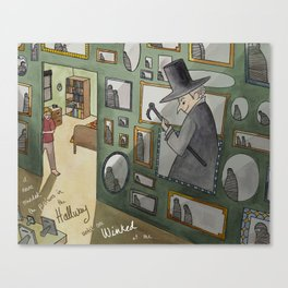 The Winking Walls Canvas Print