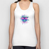 triangles Tank Tops featuring Triangles by Marjolein
