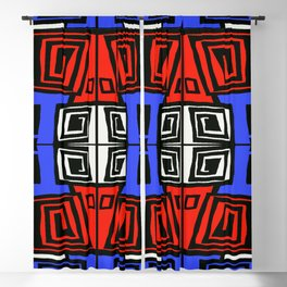 Blue & Red Blackout Curtain