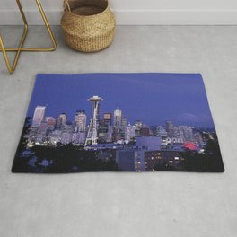 A Dusk View of the Seattle Skyline Rug
