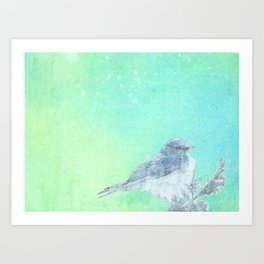 Bluebird Inked Art Print