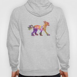 Chinese crested dog 01 in watercolor Hoody