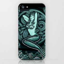 Blue Mermaid - Monochrome iPhone Case