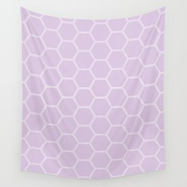 Honeycomb Light Purple #288 Wall Tapestry