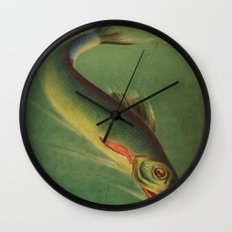 Stained Glass Fish - 2 Wall Clock