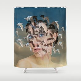 light thinking Shower Curtain