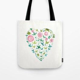 garden heart Tote Bag