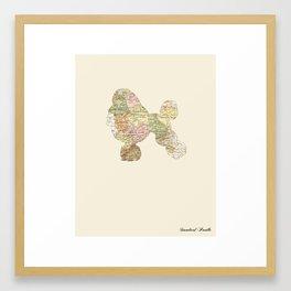 Standard Poodle Framed Art Print