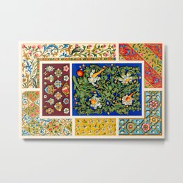 Albert Racinet - Middle-Ages pattern from L'ornement Polychrome Metal Print