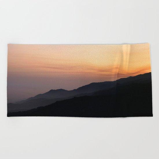 Hillside Sunset Beach Towel