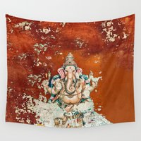 ganesha Wall Tapestries featuring GANESHA by I Love Decor