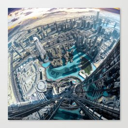 View from the tallest building in the world, the Burj Khalifa in Dubai Canvas Print