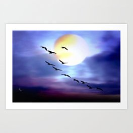 Birds of passage. Art Print