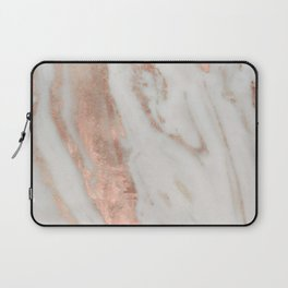 Marble Rose Gold Shimmery Marble Laptop Sleeve