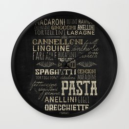 Pasta Italiana Wall Clock