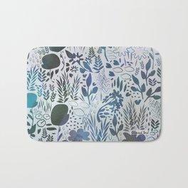 Blue Watercolour Meadow Bath Mat