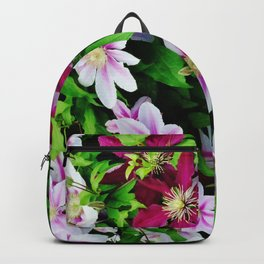 Nelly Moser and Jackmanii Backpack