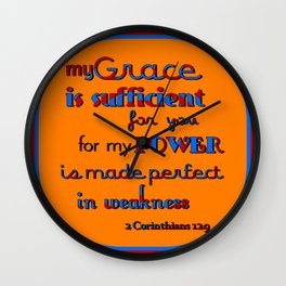 My Grace is Sufficient  (2) Wall Clock