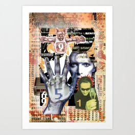 COLLAGE: Numbers Art Print