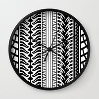 motorbike Wall Clocks featuring Motorbike by Helene Michau
