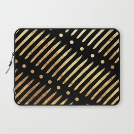 Dots & Dashes on Black Laptop Sleeve