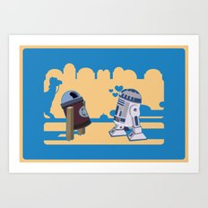 I fell in love in Tatooine Art Print
