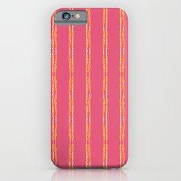 Orange Stripes on Pink iPhone Case