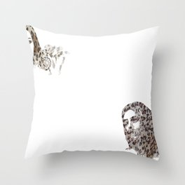 Leopard skin Throw Pillow