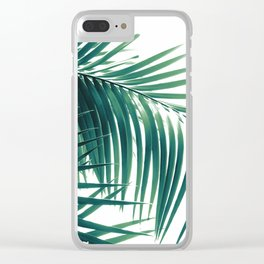Palm Leaves Green Vibes #6 #tropical #decor #art #society6 Clear iPhone Case
