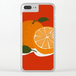 Mandarin Orange Clear iPhone Case